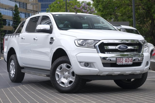 Used Ford Ranger PX MkII XLT Double Cab Newstead, 2017 Ford Ranger PX MkII XLT Double Cab White 6 Speed Sports Automatic Utility