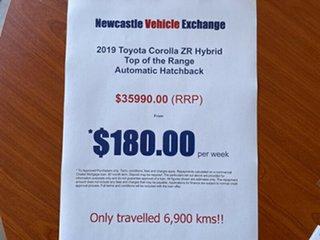 2019 Toyota Corolla ZWE211R ZR E-CVT Hybrid Black 10 Speed Constant Variable Hatchback Hybrid