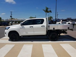 2018 Toyota Hilux GUN126R SR Double Cab Glacier White 6 Speed Manual Cab Chassis