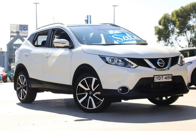 Used Nissan Qashqai J11 TI Kirrawee, 2015 Nissan Qashqai J11 TI White 1 Speed Constant Variable Wagon