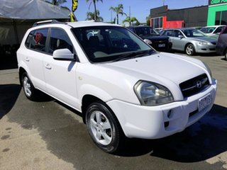 2005 Hyundai Tucson City White 4 Speed Auto Selectronic Wagon.