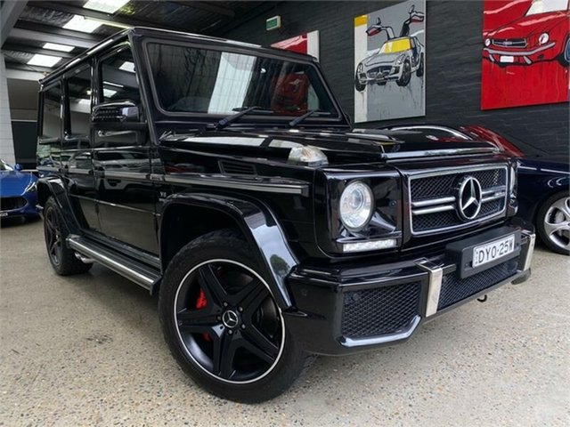 Used Mercedes-Benz G-Class Glebe, 2015 Mercedes-Benz G-Class W463 G63 AMG Obsidian Black Sports Automatic Wagon
