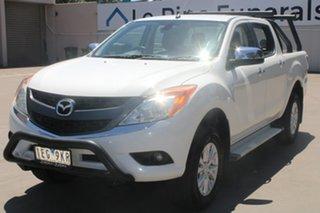 2014 Mazda BT-50 MY13 GT (4x4) White 6 Speed Manual Dual Cab Utility.