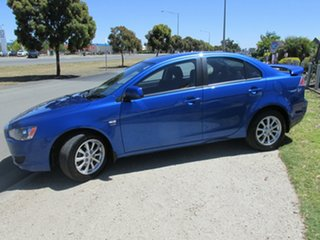 2011 Mitsubishi Lancer CJ MY11 SX Blue 6 Speed Constant Variable Sedan.