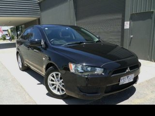 2011 Mitsubishi Lancer CJ MY11 SX Sportback Black 6 Speed CVT Auto Sequential Hatchback.