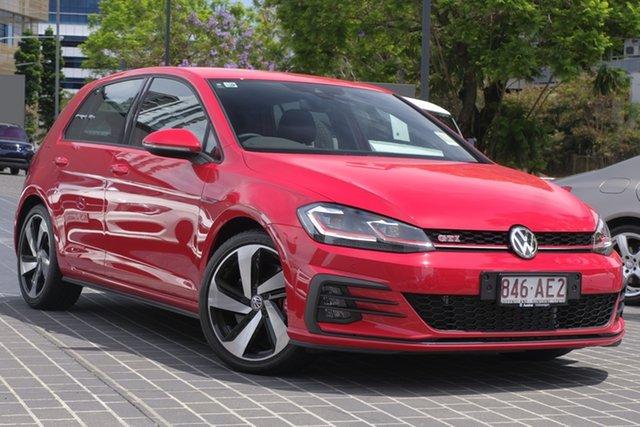 Demo Volkswagen Golf 7.5 MY20 GTI DSG Newstead, 2019 Volkswagen Golf 7.5 MY20 GTI DSG Tornado Red 7 Speed Sports Automatic Dual Clutch Hatchback