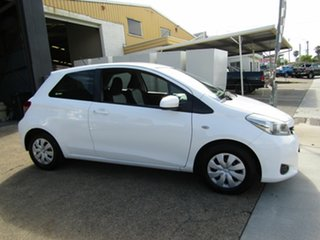 2011 Toyota Yaris NCP130R YR White 4 Speed Automatic Hatchback