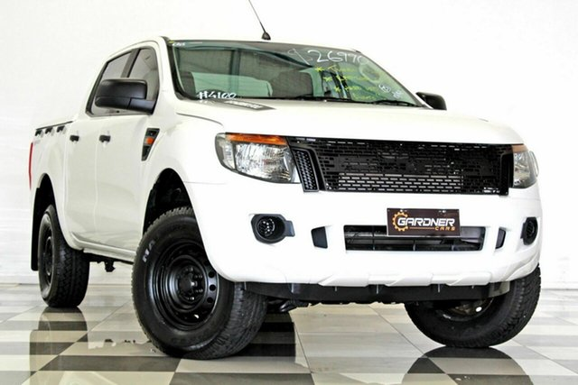 Used Ford Ranger PX XL 2.2 Hi-Rider (4x2) Burleigh Heads, 2013 Ford Ranger PX XL 2.2 Hi-Rider (4x2) White 6 Speed Automatic Crew Cab Pickup