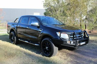 2012 Ford Ranger PX XLT Double Cab Black 6 Speed Manual Utility.
