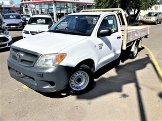 2006 Toyota Hilux TGN16R MY07 Workmate 4x2 White 5 Speed Manual Cab Chassis.