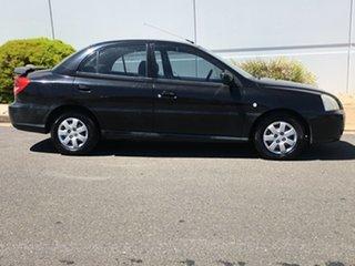 2003 Kia Rio MY03 LS Black 5 Speed Manual Sedan.
