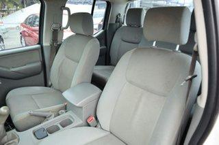 2009 Nissan Navara D40 RX King Cab White 6 Speed Manual Cab Chassis