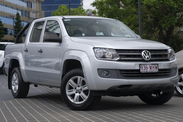 Used Volkswagen Amarok 2H MY15 TDI420 4Motion Perm Newstead, 2015 Volkswagen Amarok 2H MY15 TDI420 4Motion Perm Silver 8 Speed Automatic Cab Chassis