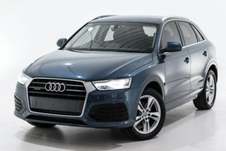 2018 Audi Q3 8U MY18 TFSI S Tronic Quattro Sport Blue 7 Speed Sports Automatic Dual Clutch Wagon.