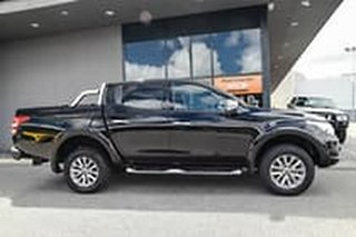 2016 Mitsubishi Triton MQ MY16 GLS Double Cab Black/black Sports Cloth 5 Speed Sports Automatic