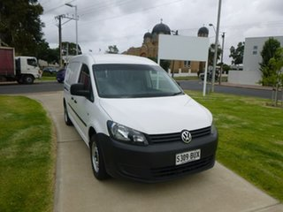 2013 Volkswagen Caddy 2KN TDI250 White Sports Automatic Dual Clutch Van.