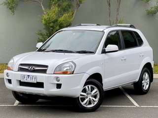 2009 Hyundai Tucson JM MY09 City SX White 5 Speed Manual Wagon.