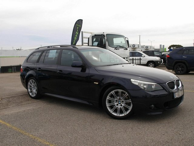 Used BMW 5 Series E61 530i Touring Steptronic Cheltenham, 2006 BMW 5 Series E61 530i Touring Steptronic Black 6 Speed Sports Automatic Wagon