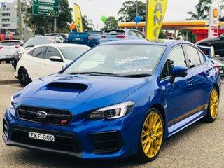 2020 Subaru WRX V1 MY20 STI AWD Premium Blue 6 Speed Manual Sedan.