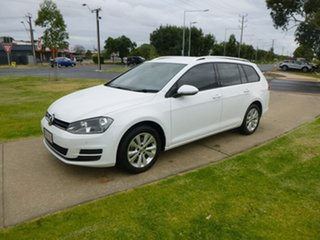 2015 Volkswagen Golf 7 90TSI Comfortline White Sports Automatic Dual Clutch Wagon