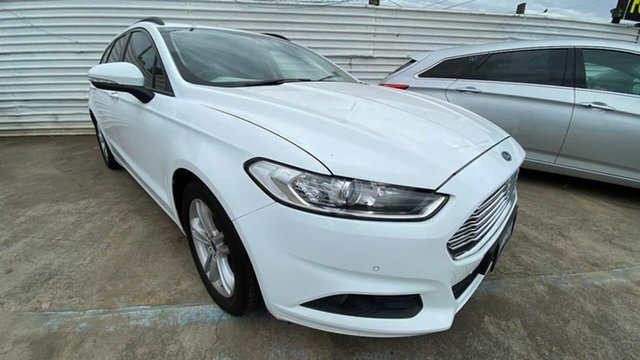 Used Ford Mondeo MD Ambiente Maidstone, 2016 Ford Mondeo MD Ambiente White 6 Speed Sports Automatic Dual Clutch Wagon