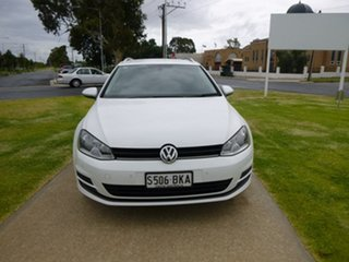 2015 Volkswagen Golf 7 90TSI Comfortline White Sports Automatic Dual Clutch Wagon.