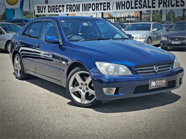 Used Toyota Altezza Cheltenham, 2003 Toyota Altezza SXE10 RS200 Blue Manual Sedan