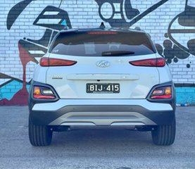 2020 Hyundai Kona OS.3 MY20 Highlander TTR (AWD) Chalk White & Black Roof 7 Speed Auto Dual Clutch