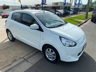 2013 Mitsubishi Mirage LA MY14 ES White 1 Speed Constant Variable Hatchback.