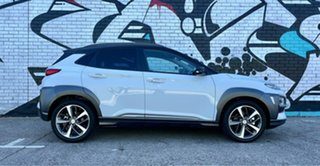 2020 Hyundai Kona OS.3 MY20 Highlander TTR (AWD) Chalk White & Black Roof 7 Speed Auto Dual Clutch.
