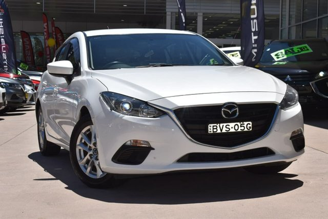 Used Mazda 3 BM5476 Maxx SKYACTIV-MT Blacktown, 2014 Mazda 3 BM5476 Maxx SKYACTIV-MT White 6 Speed Manual Hatchback