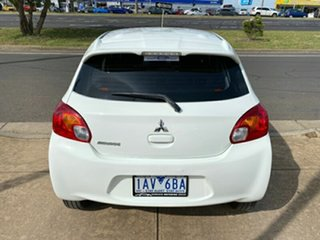 2013 Mitsubishi Mirage LA MY14 ES White 1 Speed Constant Variable Hatchback