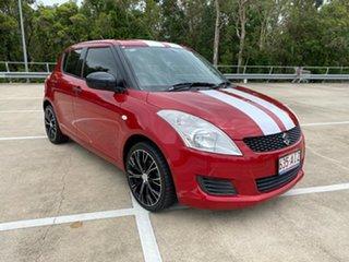2013 Suzuki Swift FZ GA Red 5 Speed Manual Hatchback.