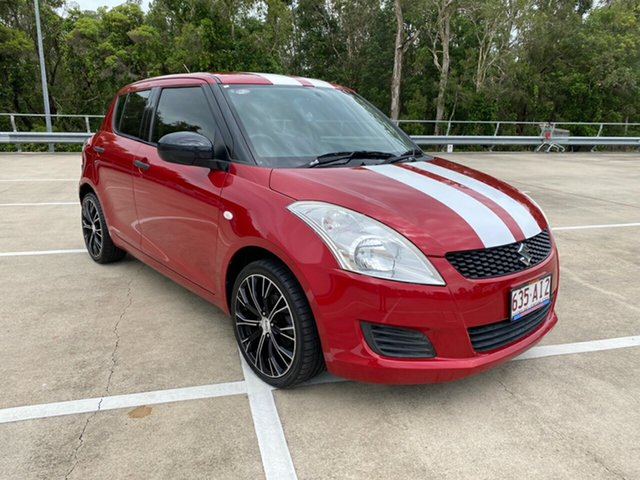 Used Suzuki Swift FZ GA Morayfield, 2013 Suzuki Swift FZ GA Red 5 Speed Manual Hatchback