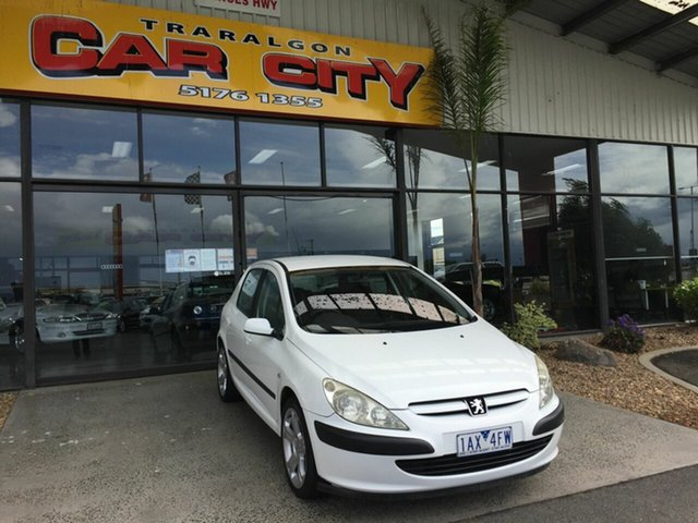 Used Peugeot 307 XS HDi Touring Traralgon, 2004 Peugeot 307 XS HDi Touring White 5 Speed Manual Wagon