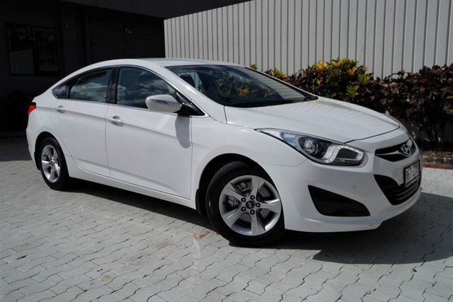 Used Hyundai i40 VF2 Active Cairns, 2015 Hyundai i40 VF2 Active White 6 Speed Sports Automatic Sedan