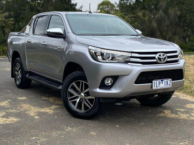 Used Toyota Hilux GUN126R SR5 Geelong, 2017 Toyota Hilux GUN126R SR5 Silver Sports Automatic Utility