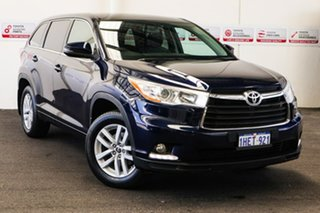 2016 Toyota Kluger GSU50R GX (4x2) Dynamic Blue 6 Speed Automatic Wagon.