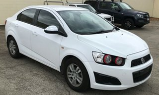 2012 Holden Barina TM White 6 Speed Automatic Sedan.
