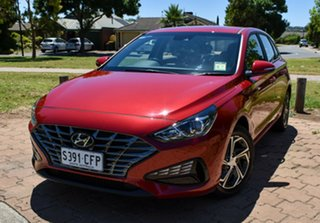 2020 Hyundai i30 PD.V4 MY21 Fiery Red 6 Speed Sports Automatic Hatchback.