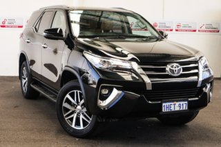 2017 Toyota Fortuner GUN156R MY18 Crusade Eclipse Black 6 Speed Automatic Wagon.