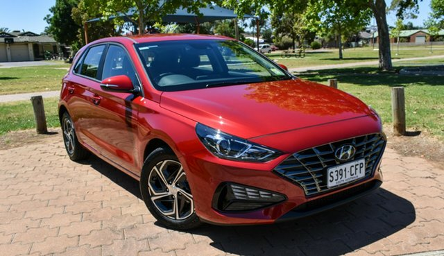 Demo Hyundai i30 PD.V4 MY21 Ingle Farm, 2020 Hyundai i30 PD.V4 MY21 Fiery Red 6 Speed Sports Automatic Hatchback