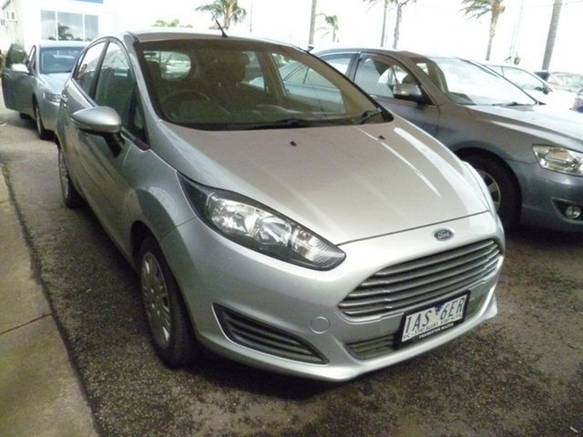 Used Ford Fiesta WZ Ambiente Moorabbin, 2013 Ford Fiesta WZ Ambiente Silver 5 Speed Manual Hatchback