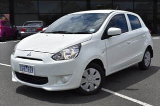 2015 Mitsubishi Mirage LA MY15 ES White 1 Speed Constant Variable Hatchback.
