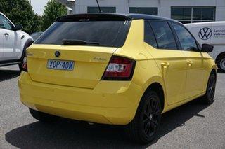 2016 Skoda Fabia NJ MY16 66TSI Sprint Yellow 5 Speed Manual Hatchback