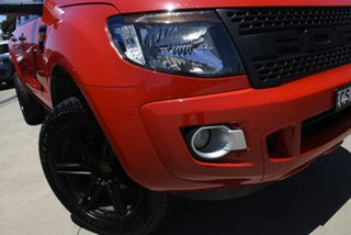 2014 Ford Ranger PX XLS 3.2 (4x4) Red 6 Speed Manual Double Cab Pick Up.