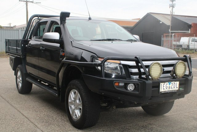 Used Ford Ranger PX XLS 3.2 (4x4) West Footscray, 2015 Ford Ranger PX XLS 3.2 (4x4) Black 6 Speed Automatic Dual Cab Utility