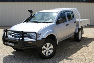 2014 Mitsubishi Triton MN MY14 Update GLX (4x4) Silver 5 Speed Manual 4x4 Double Cab Chassis.