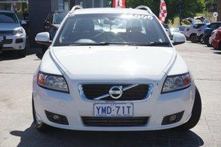 2011 Volvo V50 MY11 T5 S White 5 Speed Sports Automatic Wagon.