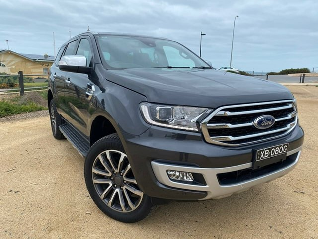 Used Ford Everest UA II 2019.75MY Titanium Christies Beach, 2019 Ford Everest UA II 2019.75MY Titanium Grey 10 Speed Sports Automatic SUV